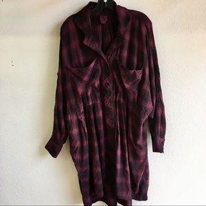 Billy Reid longsleeve button down oversized dress